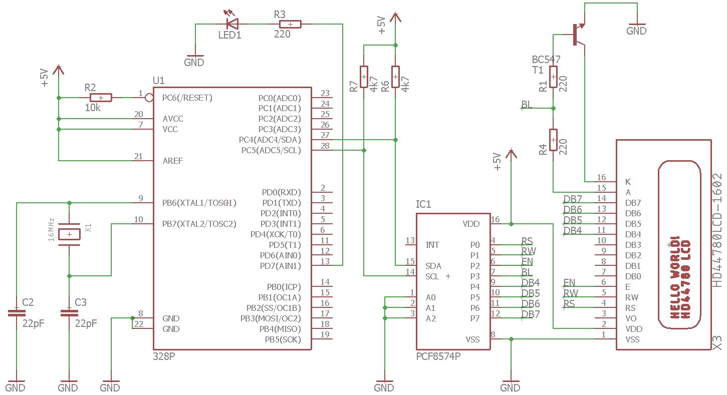 Hdhprojects Microcontroller Projects Wiringpi I2c Lcd Project Schematic